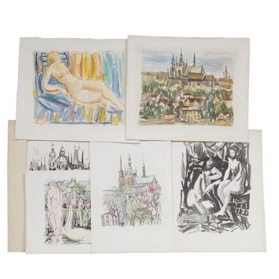 Yolanda Fusco Lithographs and Monoprint