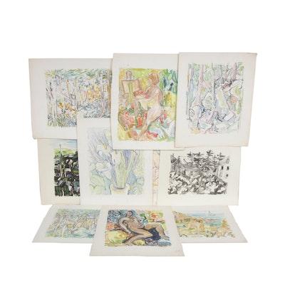 Yolanda Fusco Monoprints and Lithograph