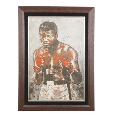 Stephen Holland Embellished Giclée Autographed by Muhammad Ali