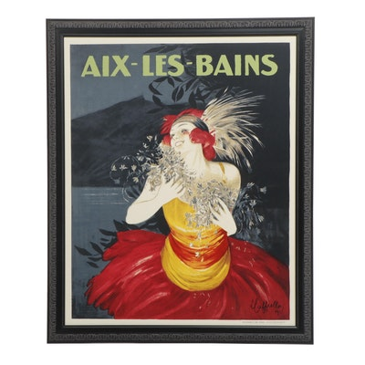 """Reproduction Lithograph Poster After Leonetto Cappiello """"Aix-Les-Bains"""""""