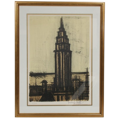 "Bernard Buffet Lithograph ""New York IV"""