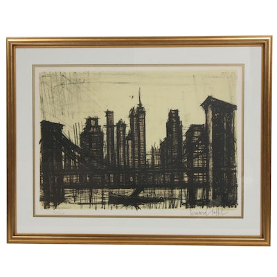 "Bernard Buffet Lithograph ""New York VI"""
