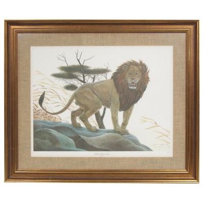 "John A. Ruthven Offset Print ""Black Maned Lion"""