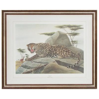 """John A. Ruthven Offset Print """"Leopard"""""""