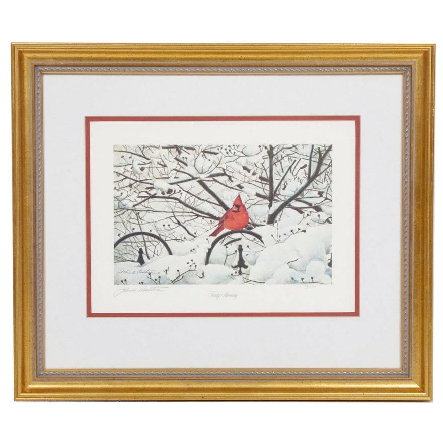 """John Ruthven Offset Print """"Frosty Morning"""""""