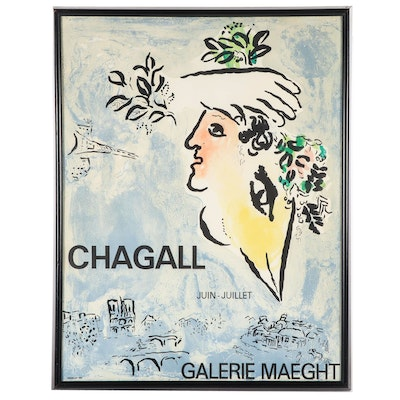 March Chagall 1964 Lithograph Poster for Galerie Maeght