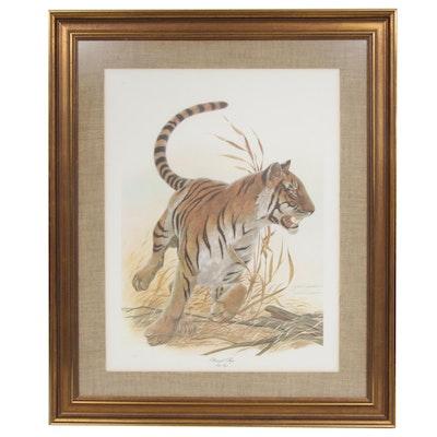 """John A. Ruthven Offset Print """"Bengal Tiger"""""""