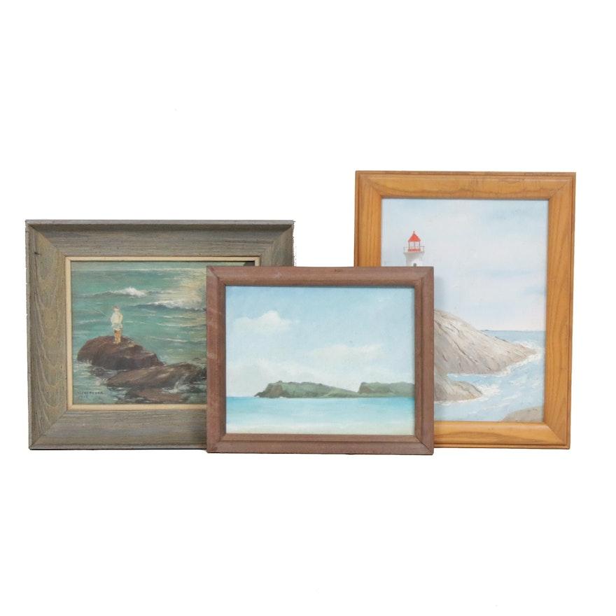 20th Century Coastal Landscape Oil Paintings