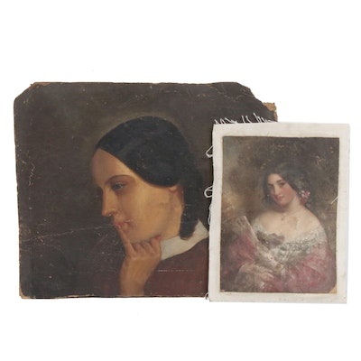 19th Century Portrait Oil Paintings