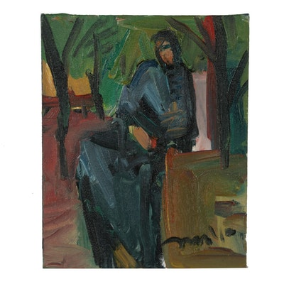 Jose Trujillo 2017 Abstract Oil Painting