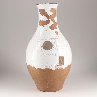 """""""Chateau Margaux Bordeaux"""" Terracotta Vase"""