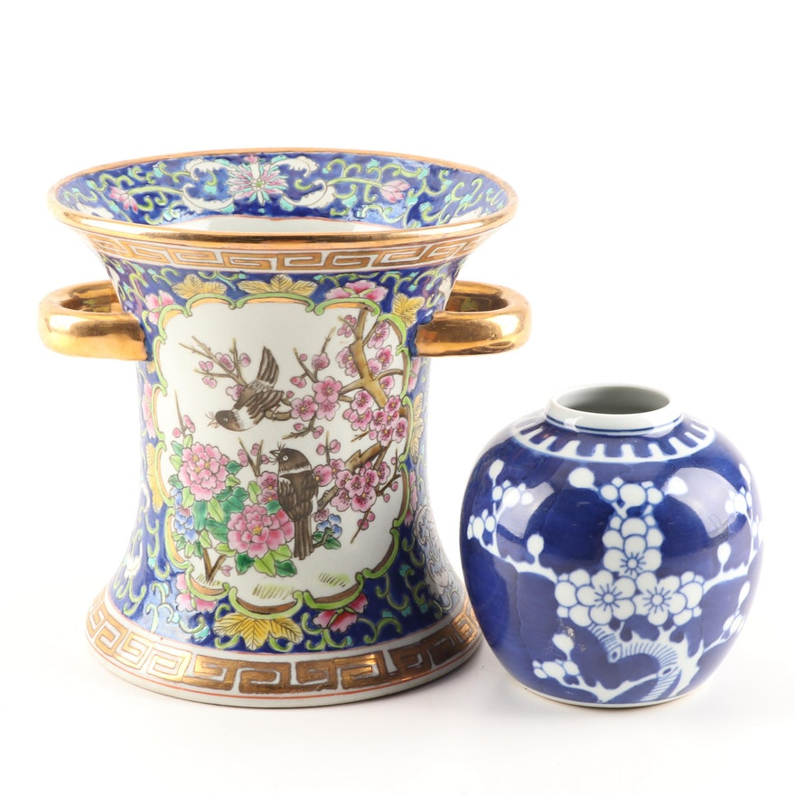 Chinese Hand-Painted Ceramic Vases