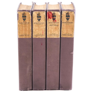 "Edition de Luxe ""The Life Work Of Henri René Guy de Maupassant"" Four Volume Set"