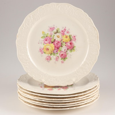 The Edwin M. Knowles China Co. Floral Dinner Plates