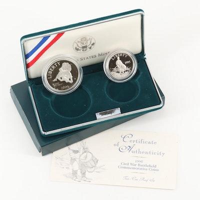 1995 Civil War Battlefield Commemorative Two-Coin Proof Set