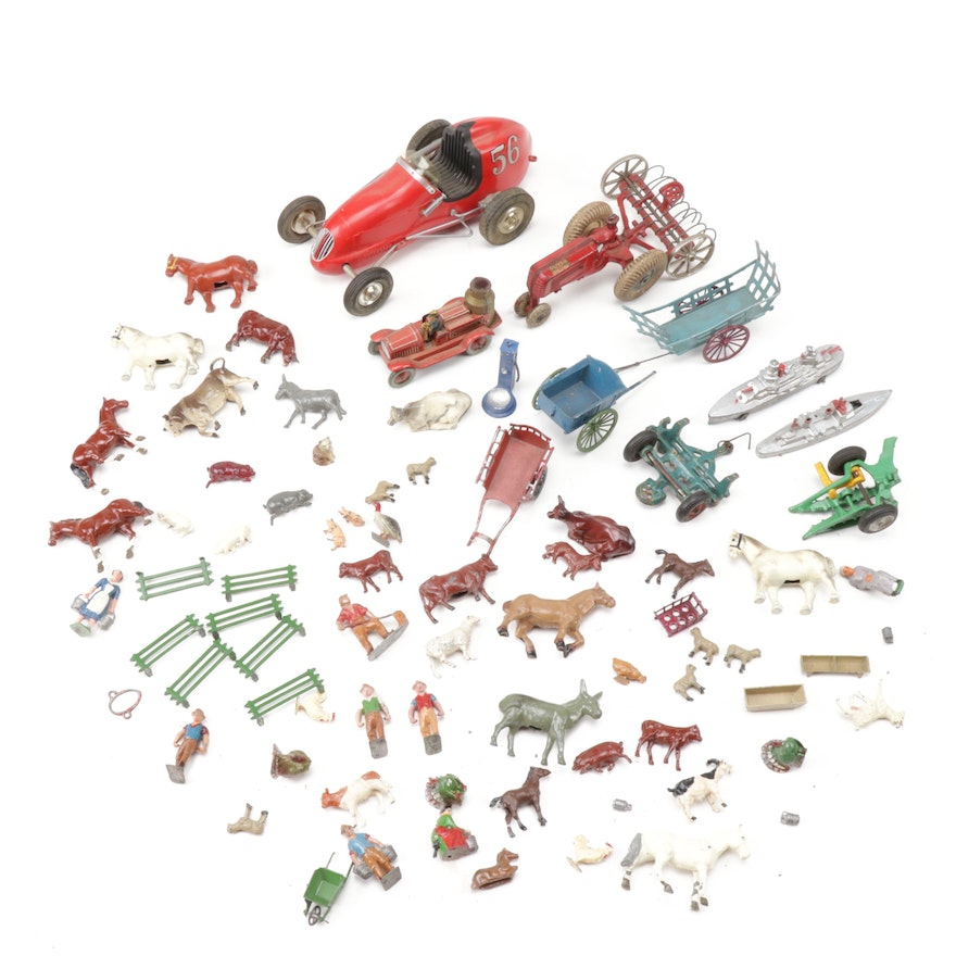 Cast Metal Vehicles and Figurines
