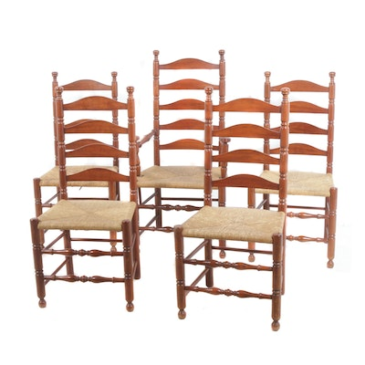 Chippendale-Style Ladder-Back Dining Chairs