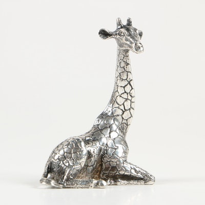 Sterling Silver Giraffe Figurine