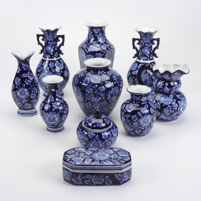 Chinese Ceramic Floral Vases and Decorative Jars