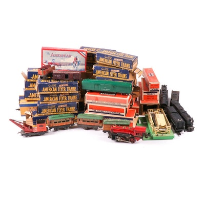 Gilbert S-Scale and Lionel O-Scale Model Trains