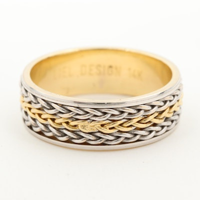 14K White Gold and Yellow Gold Ring