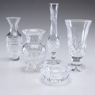 "Waterford Crystal Vases ""Ballina"", ""Lismore"" and Other Crystal Vases and Ashtray"