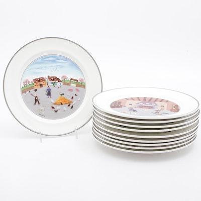 """Villeroy & Boch """"Design Naïf"""" Dinner Plates"""