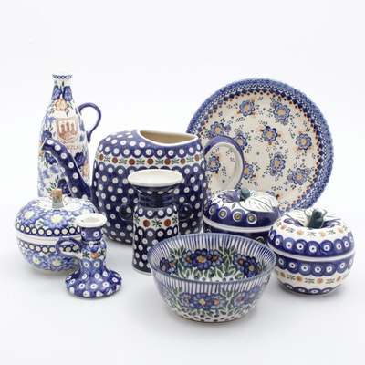 Boleslawiec and Other Handmade Earthenware Table Decor and Serveware