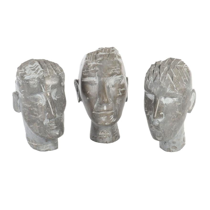 Carved Steatite Head Sculptures, 1986