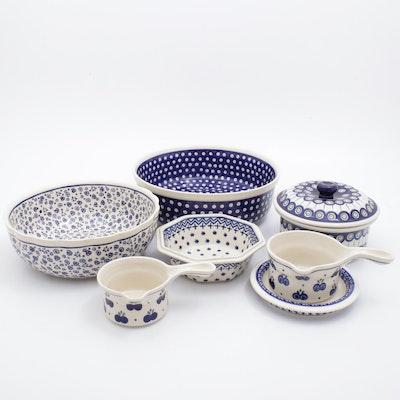 Boleslawiec Handmade Earthenware Serving Bowls and Dishes