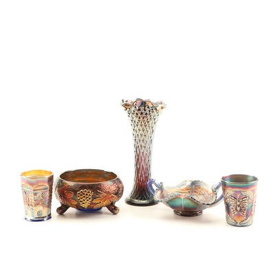 Vintage Carnival Glass Featuring Fenton