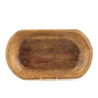 Contemporary Wooden Dough Bowl