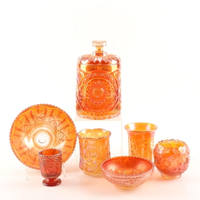 Marigold Carnival Glass Featuring Imperial and Fenton