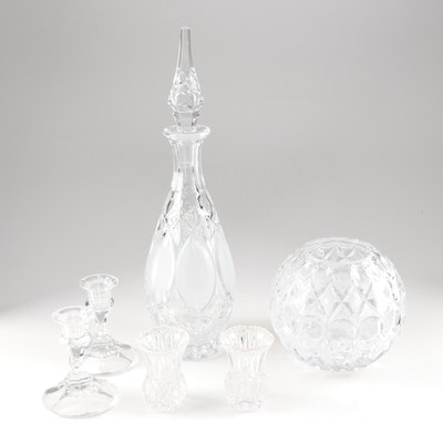 Contemporary Crystal Featuring A Princess House Decanter