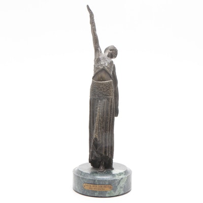 "Chiparus Bronze ""Dancer with Coin Press"" by Chiparus"