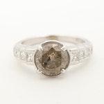 14K White Gold 2.66 CTW Diamond Ring