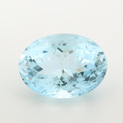 Loose 29.53 CT Aquamarine Gemstone