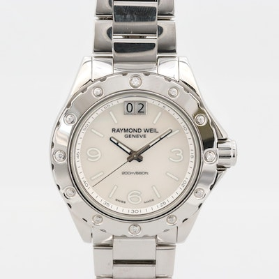 Raymond Weil Spirit Stainless Steel, Diamond and Mother of Pearl Quartz Watch