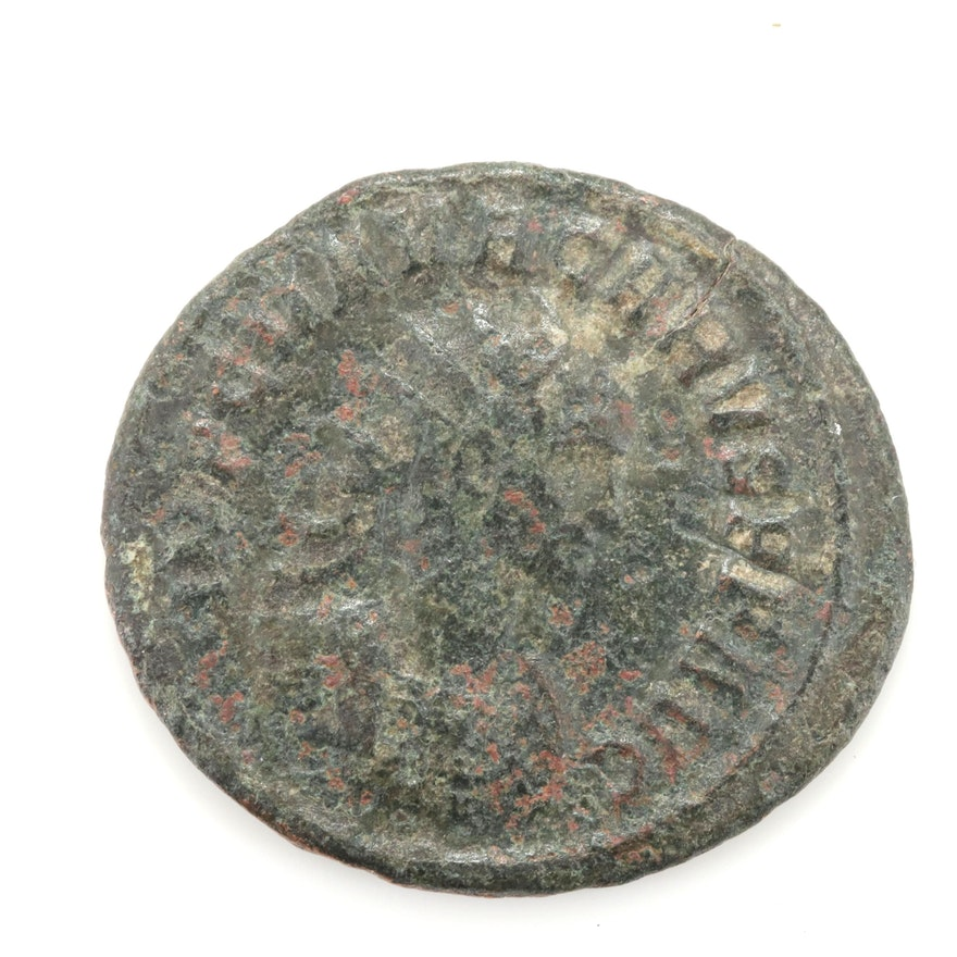 Ancient Roman Imperial Bronze AE2 Follis, ca. 300 A.D.