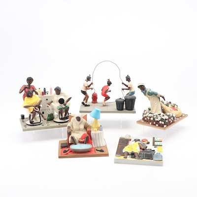 """Annie Lee Sass 'N Class Resin Figurines Including Limited Edition """"Mama Queen"""""""