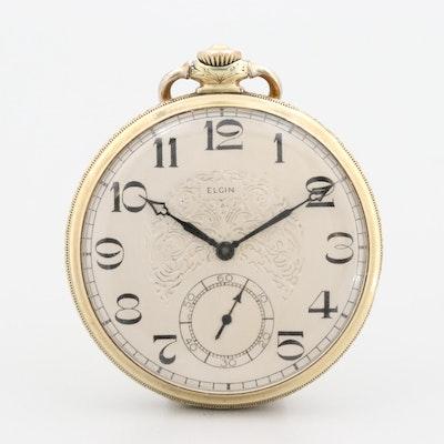 Antique Elgin 14K Gold Filled Pocket Watch, 1926
