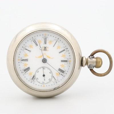 Hampden Nickel Sidewinder Pocket Watch