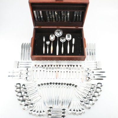 WMF Stainless Steel Flatware Set and Chest, Mid to Late 20th Century