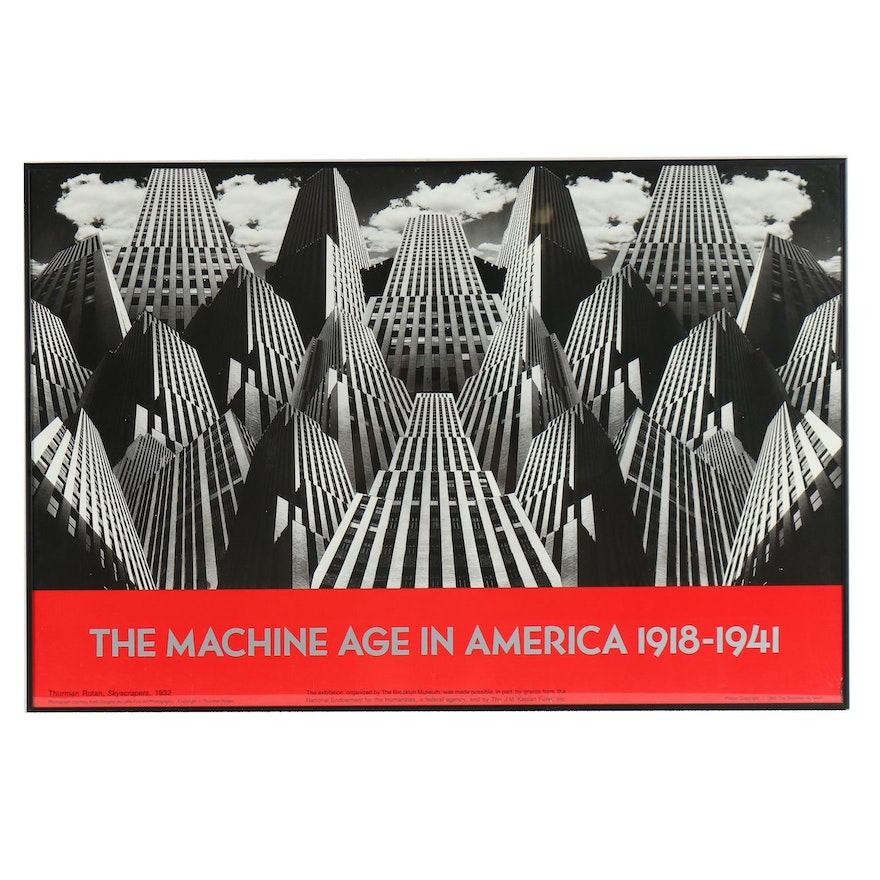 """The Brooklyn Museum Poster after Thurman Rotan """"The Machine Age in America"""""""