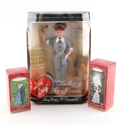 """I Love Lucy"" Mattel Doll and Hallmark Ornaments"