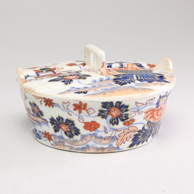 "Minton Butter Tub ""Amherst Japan"" Dish, circa 1850"