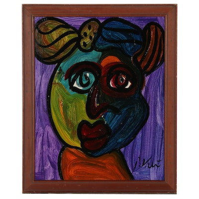 Peter Keil Oil Painting of Abstract Figure