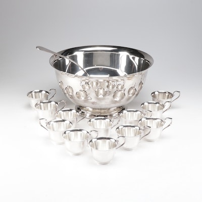 Gorham Plated Silver Punch Set