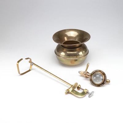 Gordons Gin Brass Beverage Dispenser and Vase, Mid-Century