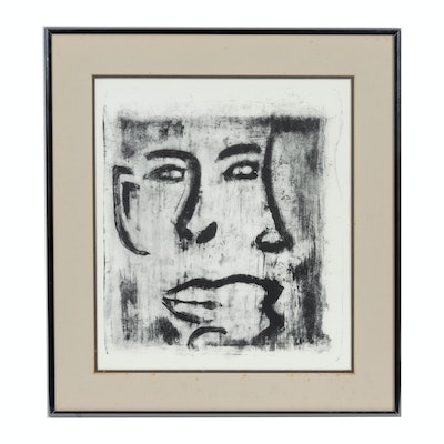 Abstract Portrait Lithograph
